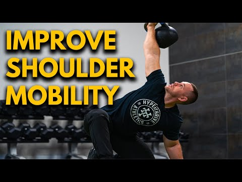 How To Attain A Kettlebell Half of Kneeling Windmill Press | FREE Shoulder Growth Manual