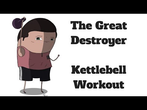 Zap Stout at Microwave Speeds with This EXTREME Kettlebell Insist [The Great Destroyer!]