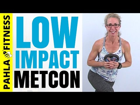 forty five Minute All Standing LOW IMPACT MetCon with a KETTLEBELL | VeggieLady2000's April ❤ Exercise