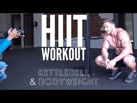 Practice Along HIIT Exercise For Paunchy Loss: Body weight & Kettlebells- Thomas DeLauer
