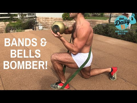 BANDS & BELLS BOMBER! | BJ Gaddour Kettlebells Resistance Bands Workout