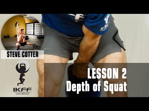 IKFF Kettlebell Lesson  2 with Steve Cotter – Depth of Squat in Swing