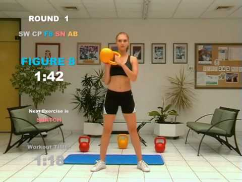 FAT  LOSS  3 Minute CARDIO and AB Exercise with Kettlebell – CARDIO MACHINE © ® 2007