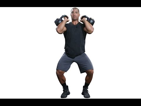 Double Kettlebell Push Presses