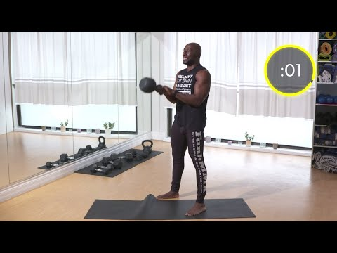 10 Minute HIIT Spartan Workout – Total Body – Kettlebells Dumbbells Bodyweight
