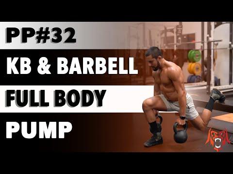 Primal Pump 32 | Kettlebell & Barbell Fat-Physique Pump | Eric Leija