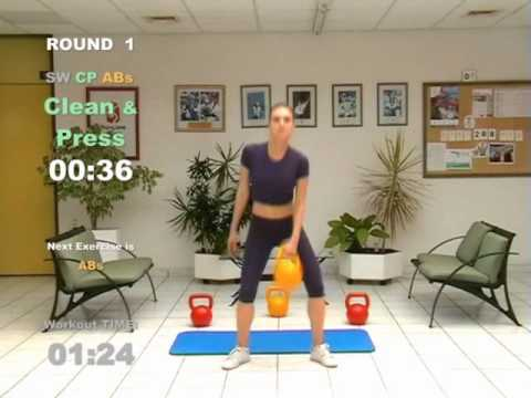 CARDIO MACHINE – 20 Minute Kettlebell Conditioning Workout – Tubby Loss