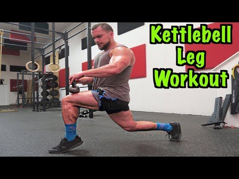 Intense 5 Minute Kettlebell Leg Exercise