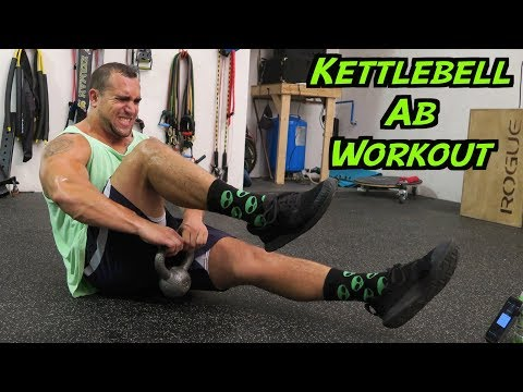 Intense 5 Minute Kettlebell Ab Workout