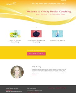 Vitality Health Coaching Web Site Design