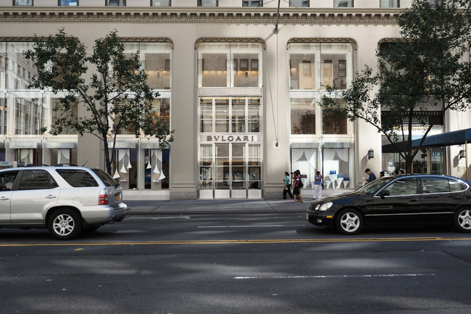 The flagship Bulgari boutique is located between 56th and 57th streets on 5th Avenue. (730 5th)