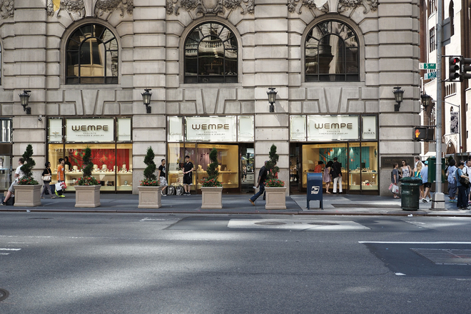 Wempe is an independent watch retailer with a large selection of the best watch brands, located between 54th and 55th on 5th Avenue. (700 5th Ave)