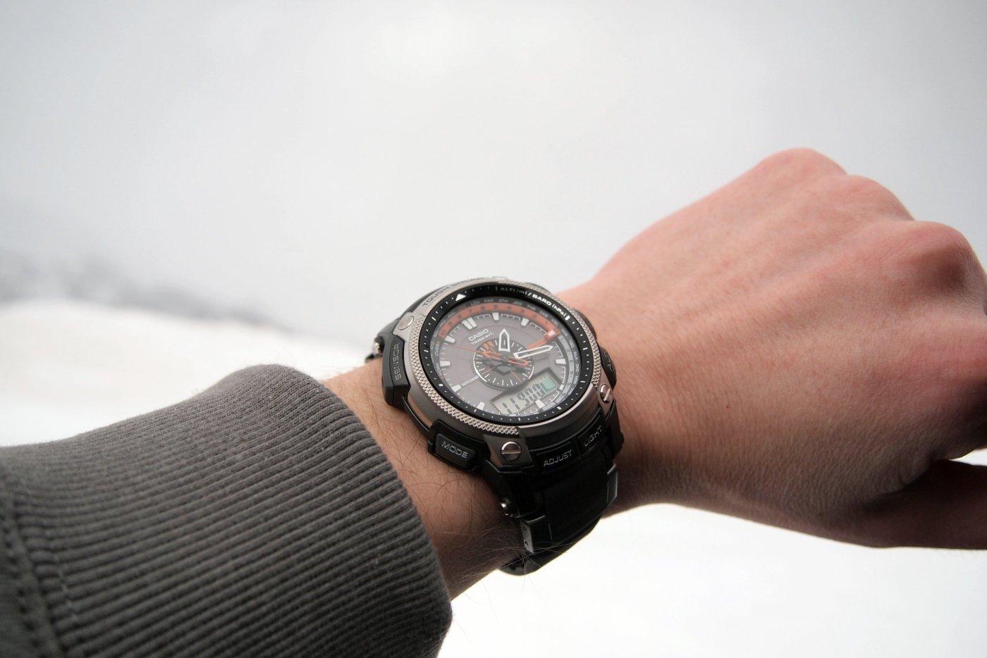 Casio Pathfinder at top of Loveland Pass