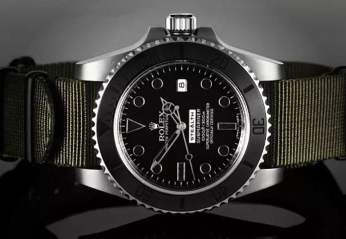 """Rolex Matte Black Ceramic Bezel """"Stealth"""" Submariner"""