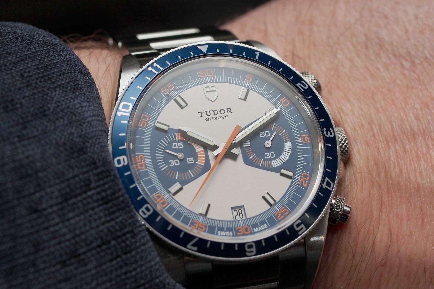 Tudor Heritage Chrono Blue wristshot