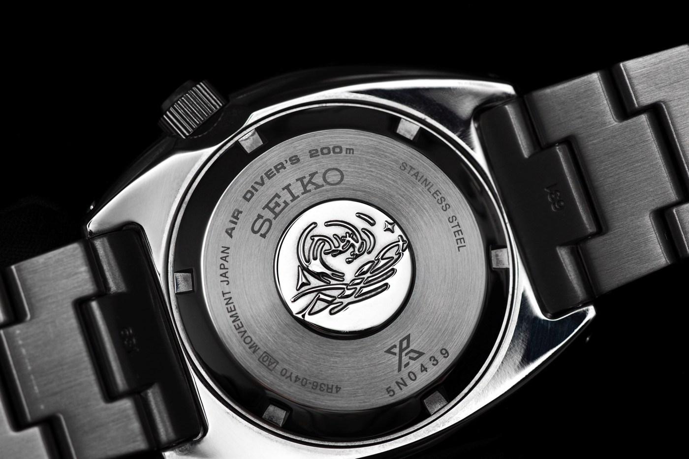 Seiko Prospex SRP775 Turtle caseback