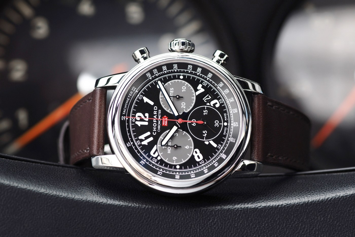 Chopard Mille Miglia 2016 XL Race Edition Chronograph in 1965 Shelby Cobra