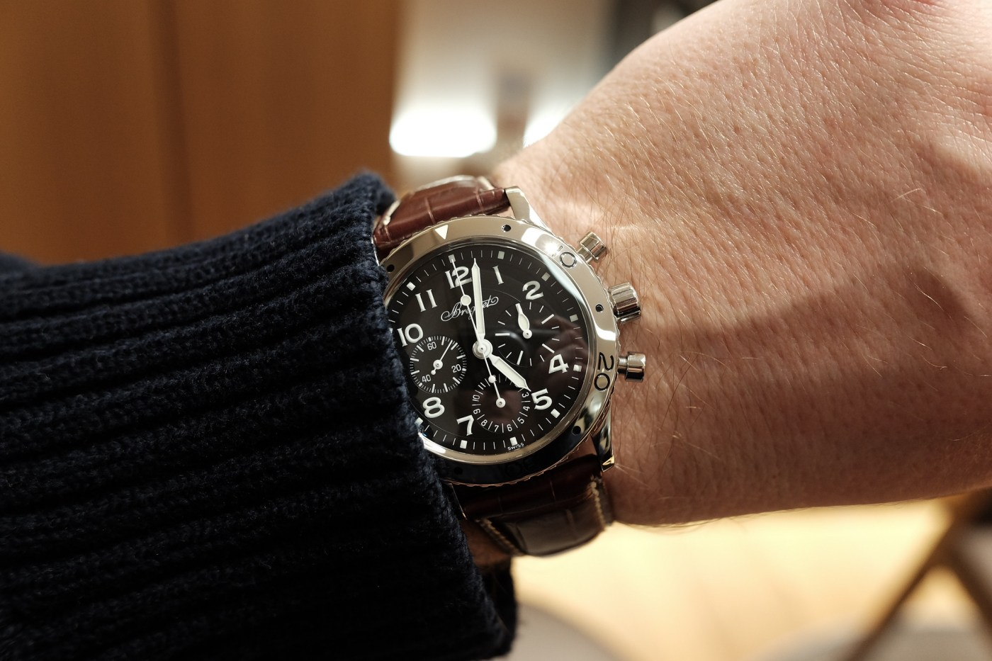 Breguet Type XX Ref.3800ST on the wrist