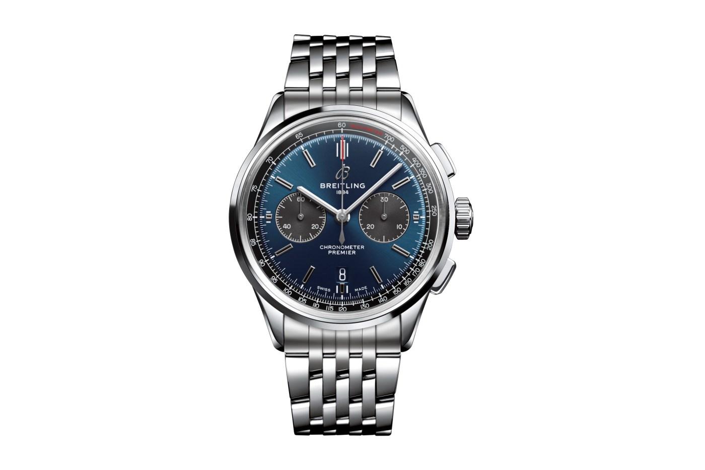 Breitling Premier B01 Chronograph Blue Dial Steel Bracelet