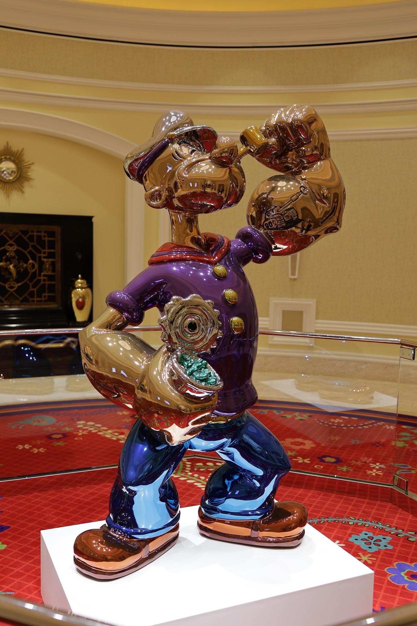 Popeye sculpture by Jeff Koons