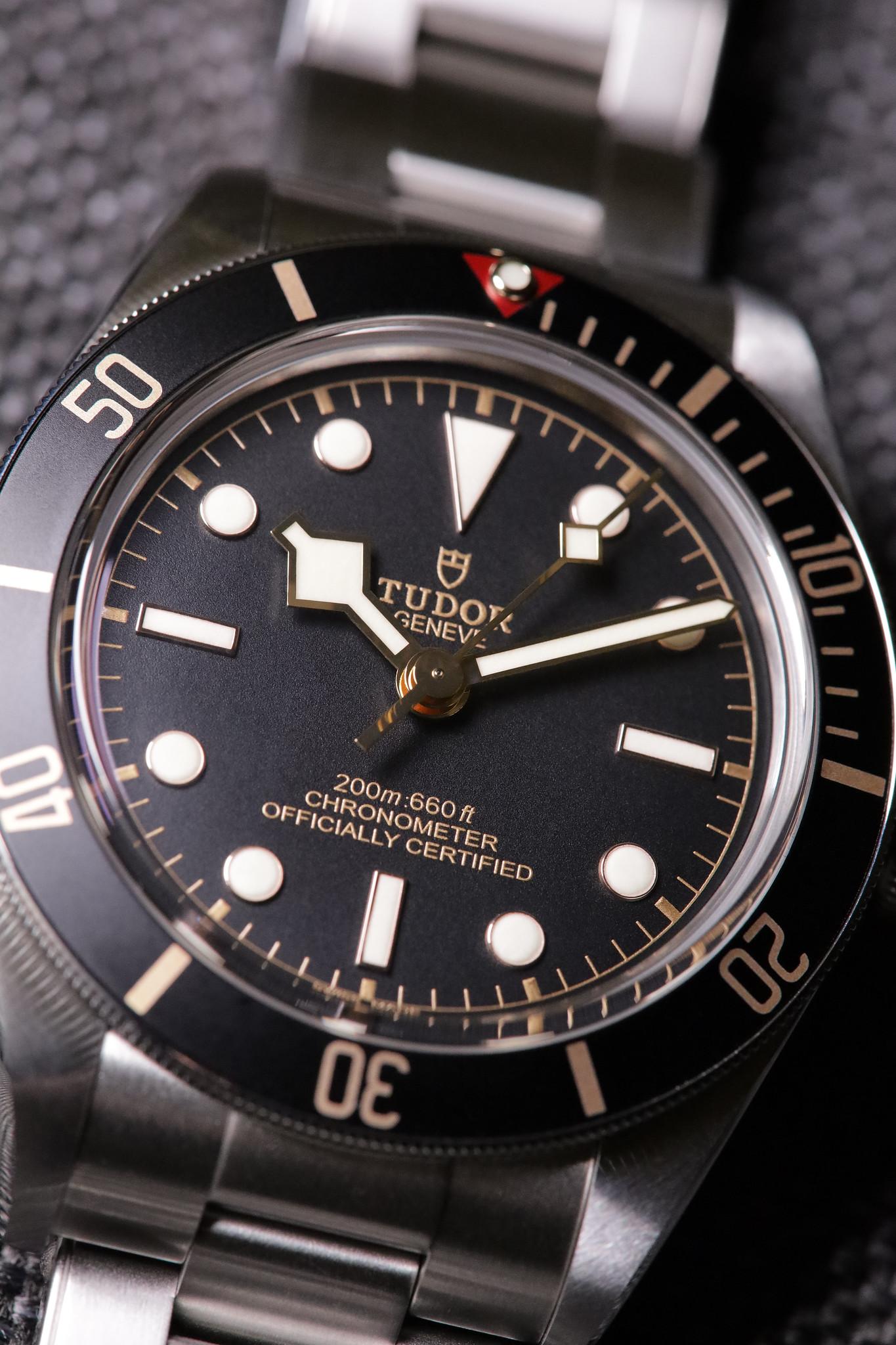 Black Bay 58 dial close-up