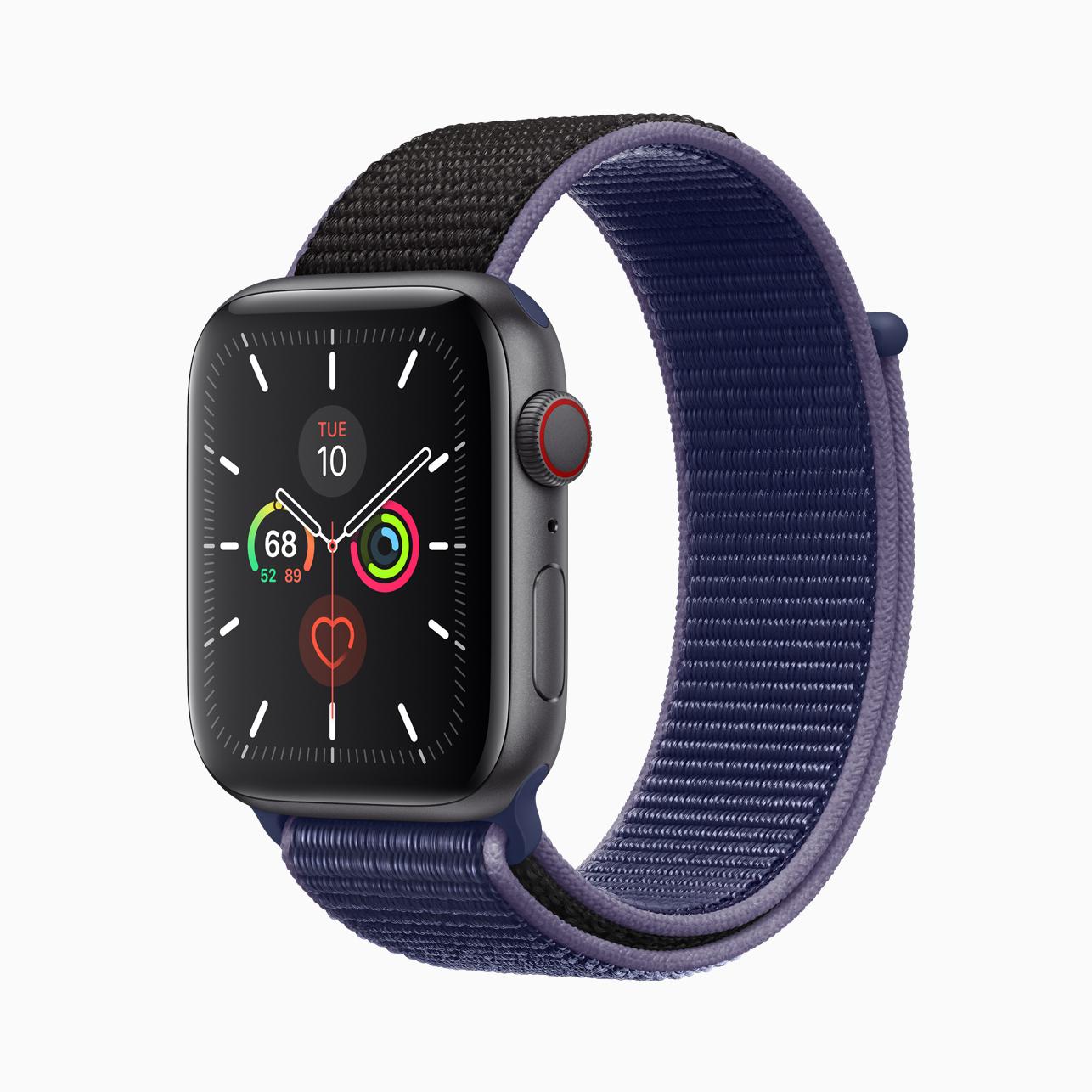 Apple Watch Series 5 space gray aluminum