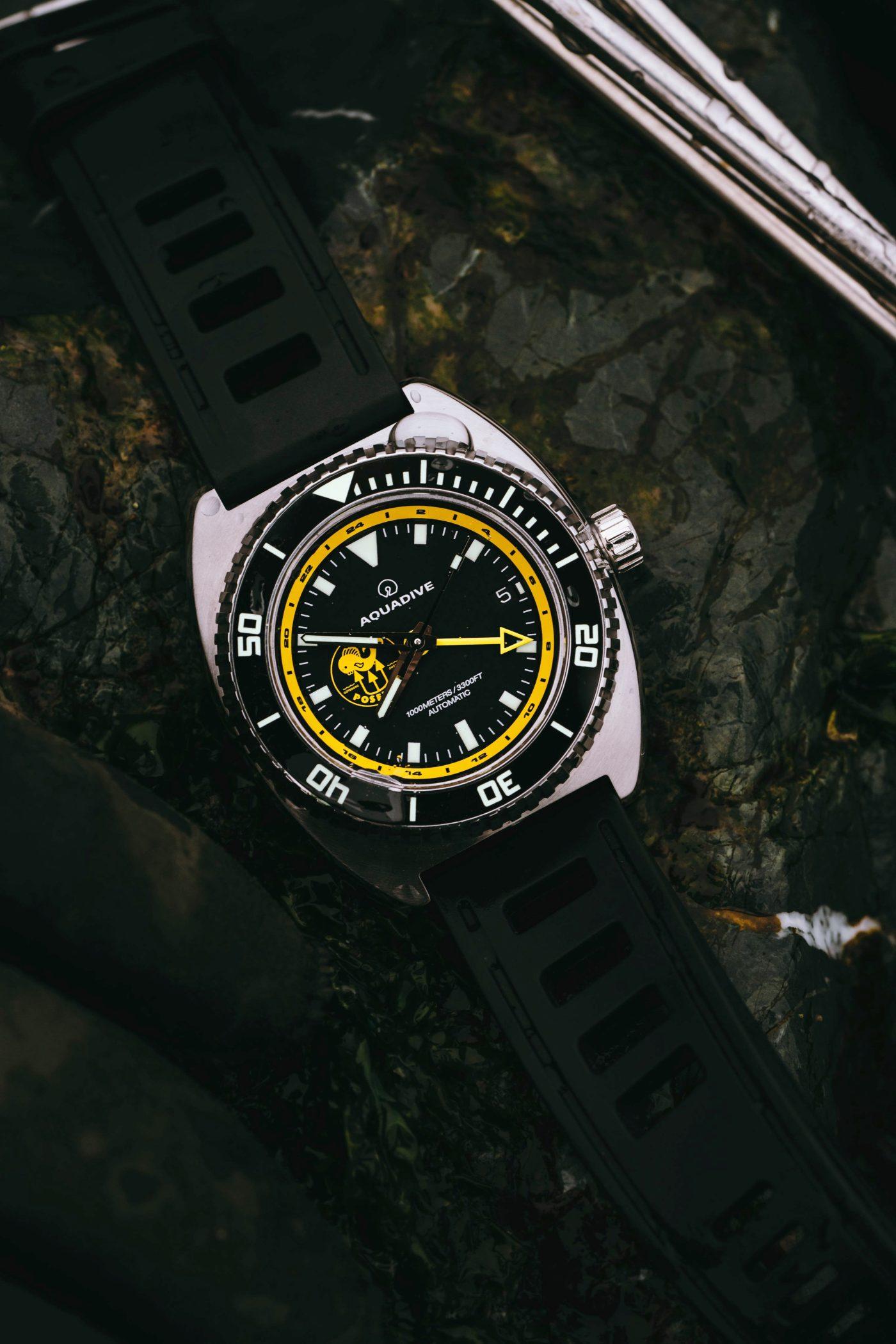 Aquadive Poseidon GMT flatlay