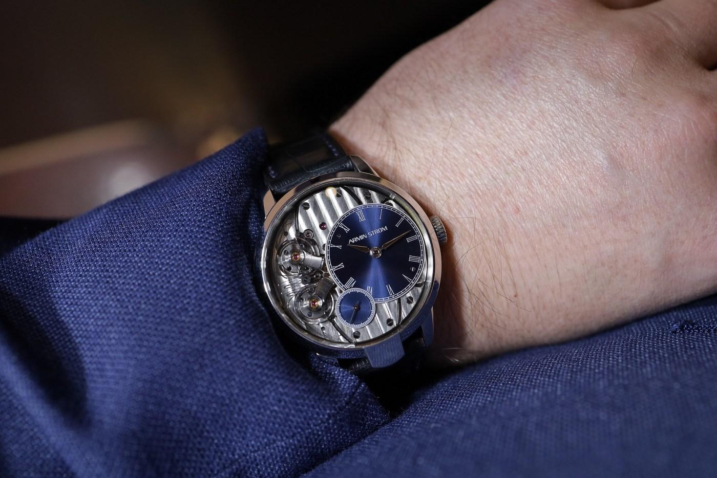 Armin Strom Pure Resonance stainless steel wristshot