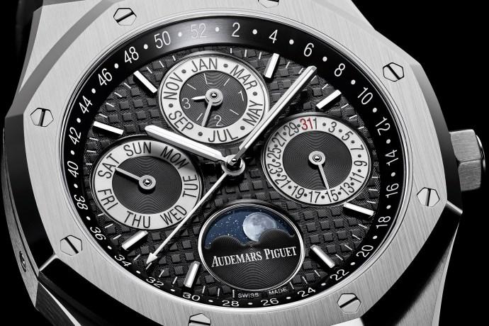 Audemars Piguet Royal Oak Platinum Perpetual Calendar close-up