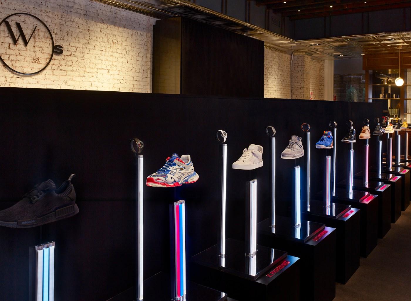 WOS #SneakerTime display Photo by Peter Murdock