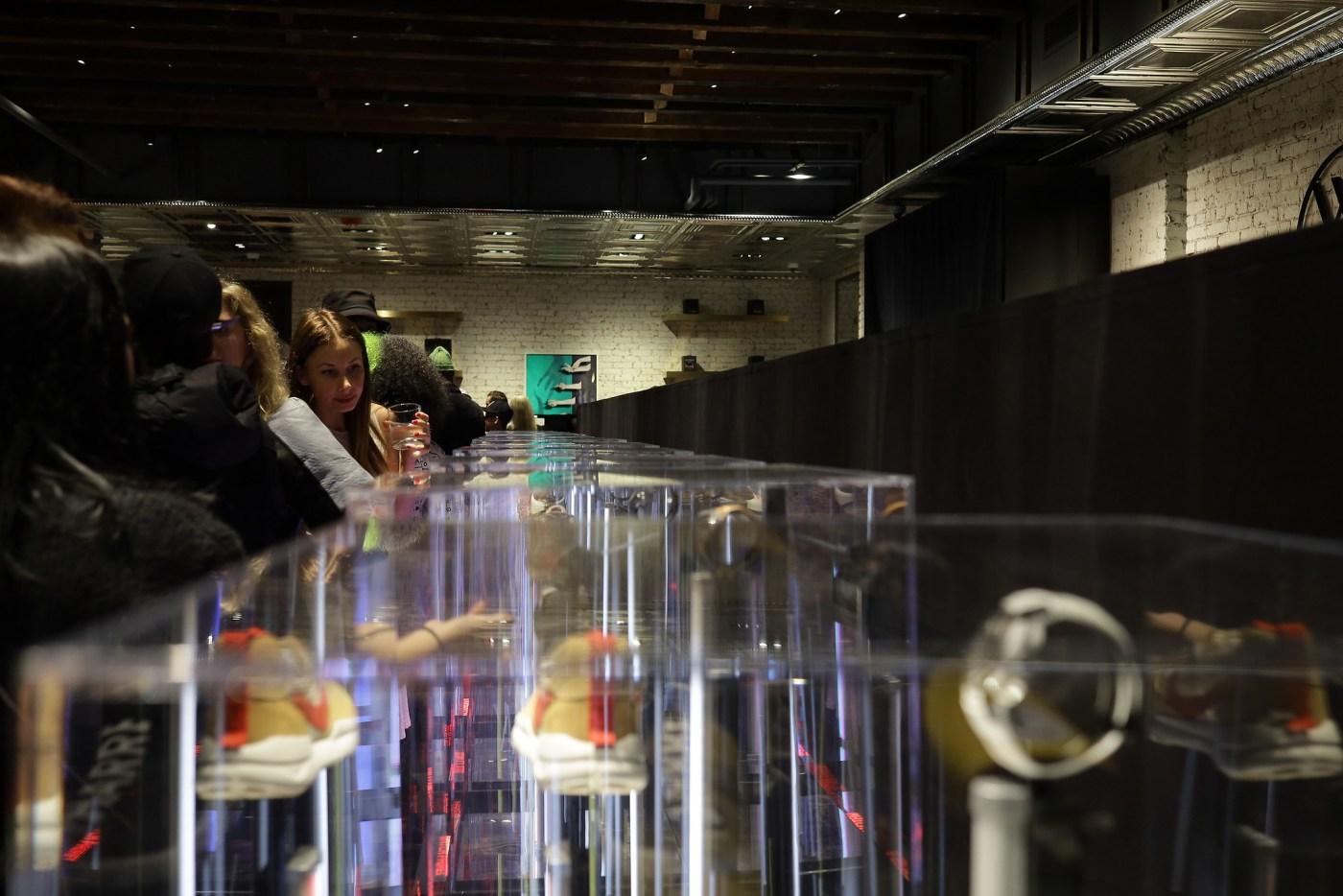 Watches of Switzerland SoHo basement #SneakerTime exhibit