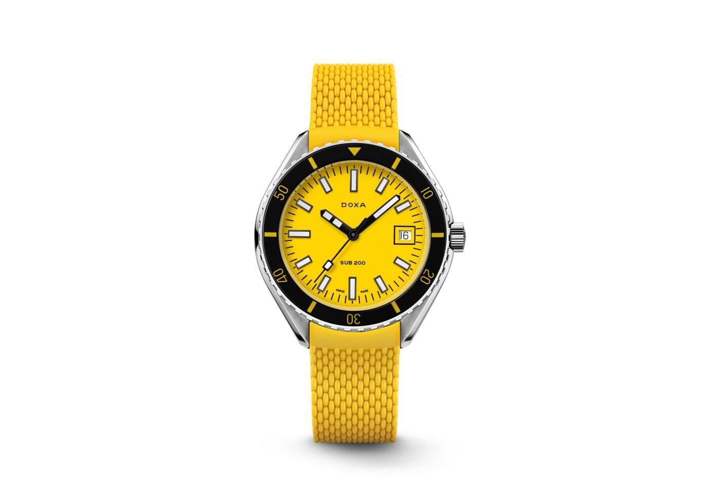 Doxa Sub 200 Yellow rubber strap