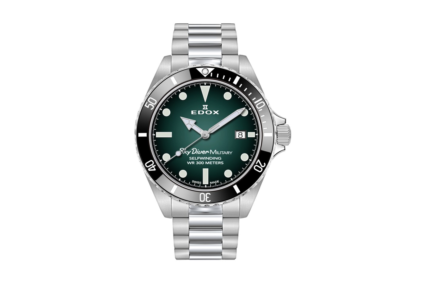 Edox Skydiver Military Limited Edition front