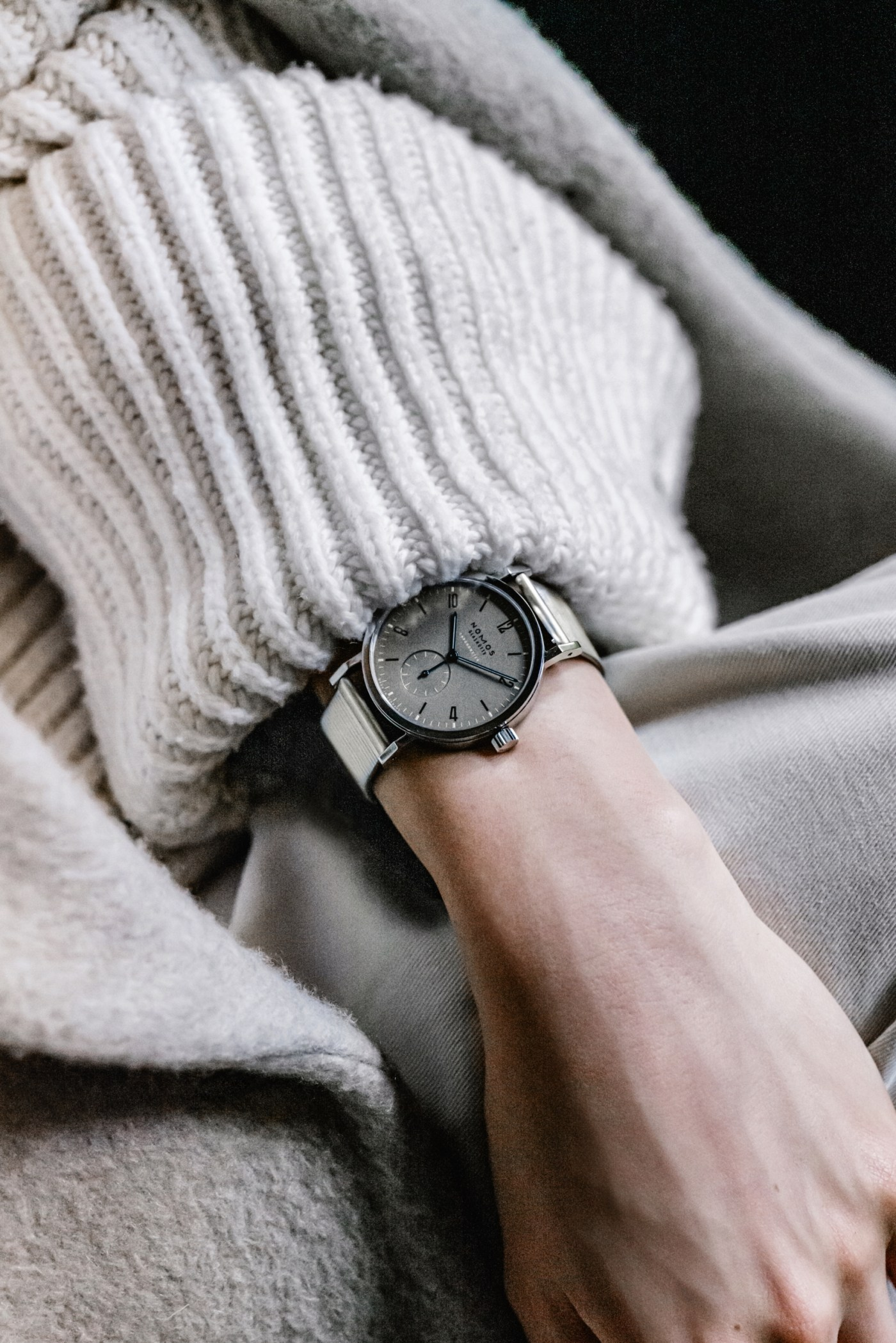Nomos Tangente Sport Chronometer for Hodinkee wristshot