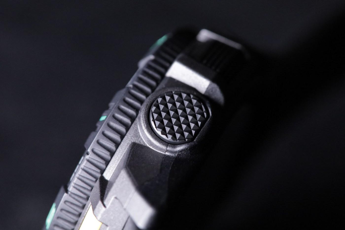 Casio Pro Trek PRT-B50 button detail