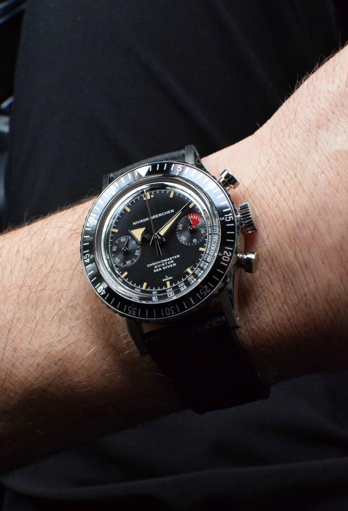 2020 Nivada Grenchen Chronomaster Aviator Sea Diver wristshot