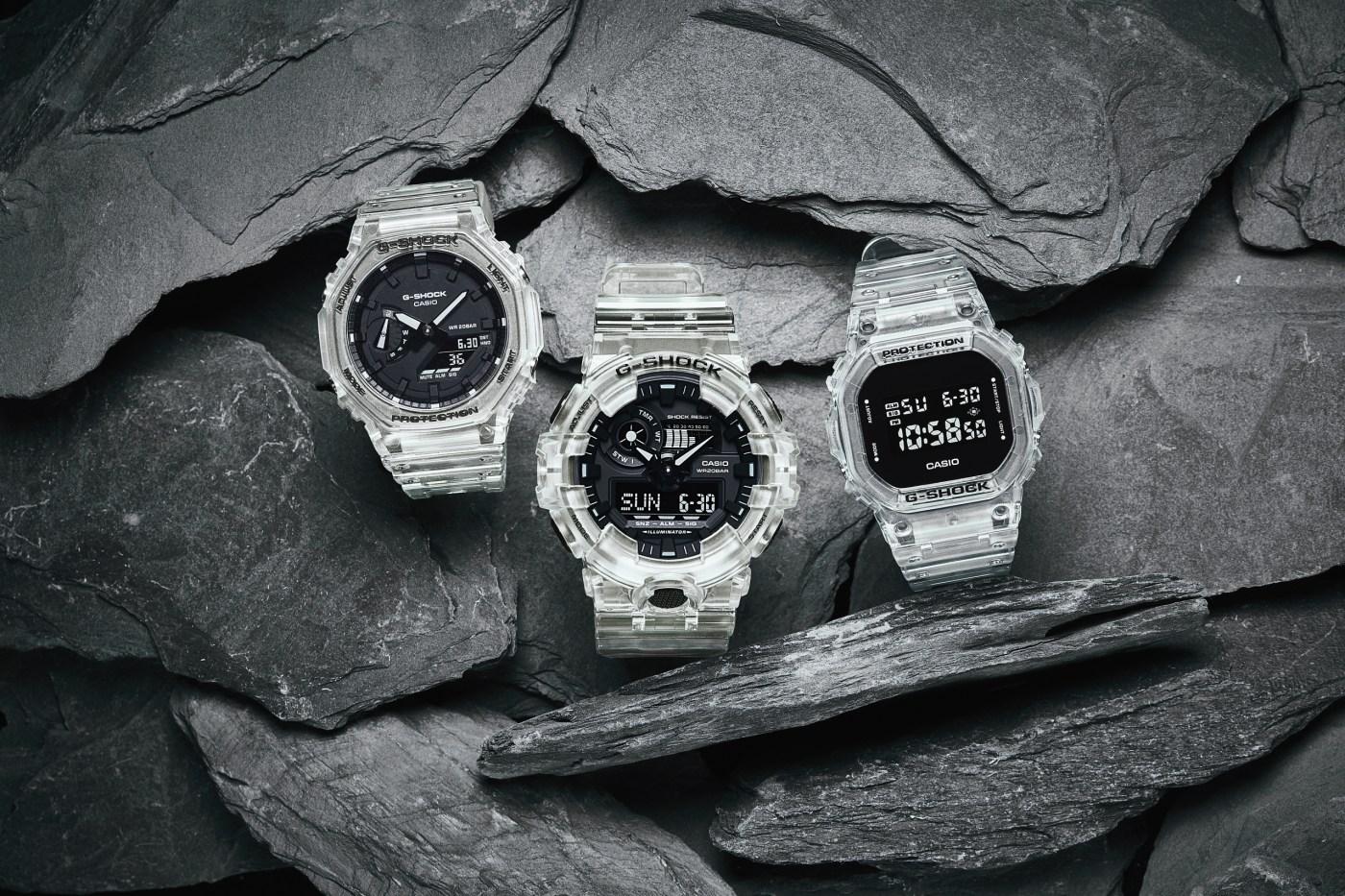 2021 G-Shock Transparent White Series