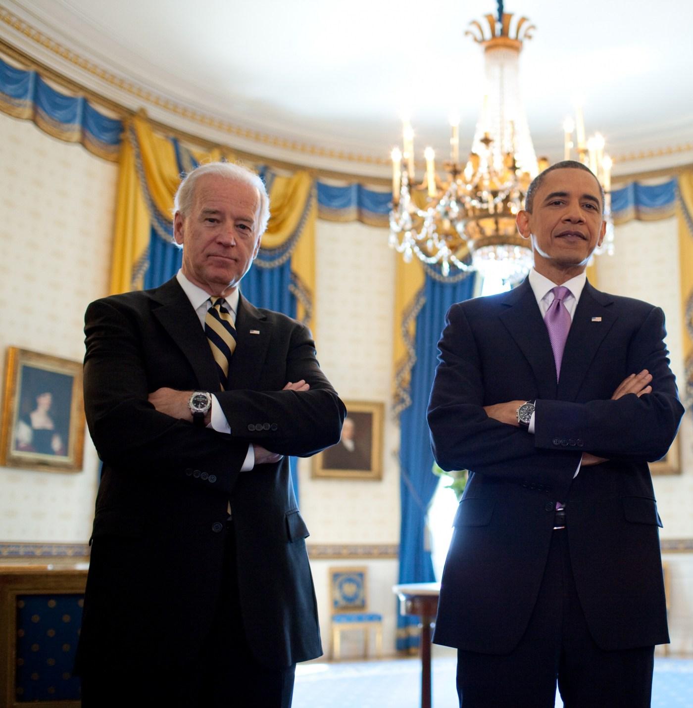Vice President Biden wearing Tissot T-Touch President Obama wearing Jorg Gray chronograph