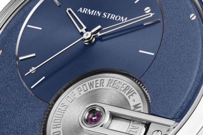 Armin Strom Tribute 1 Blue dial close-up