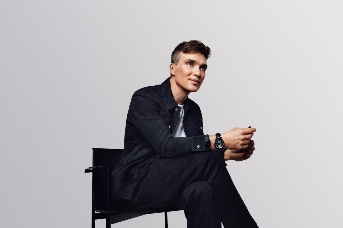 Cillian Murphy wearing Montblanc 1858 Geosphere UltraBlack Limited Edition