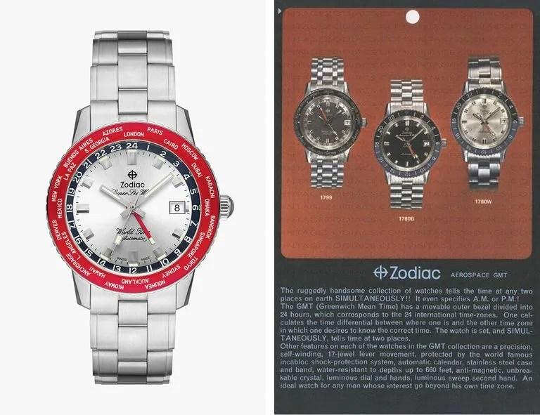 1970s Zodiac World-Time watch advertisement
