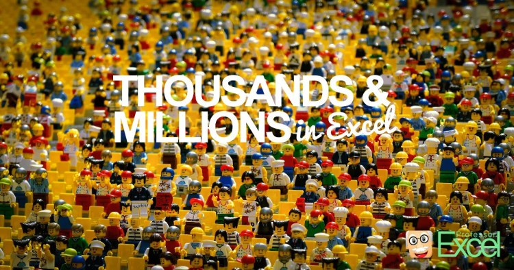 thousands, millions, excel, display, cell, format