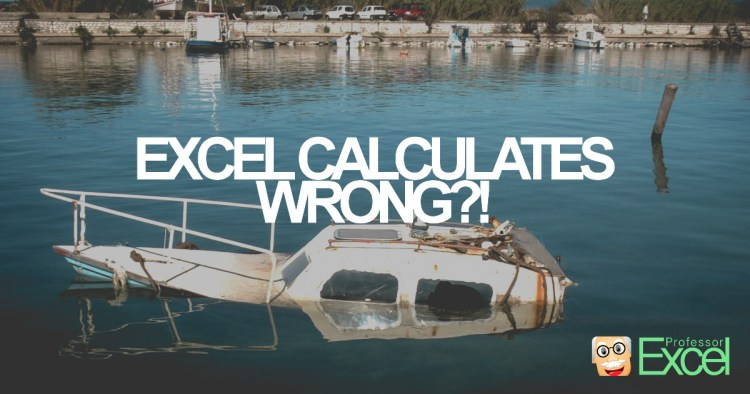 wrong, calculations, excel