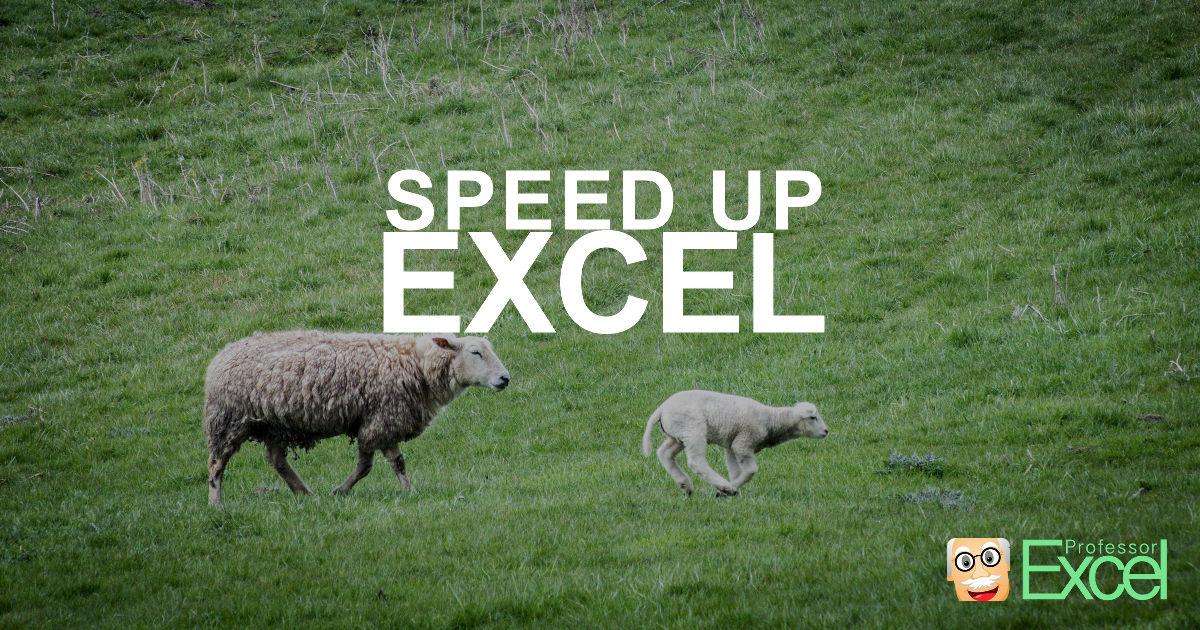 speed, up, excel, performance, calculation, speeding