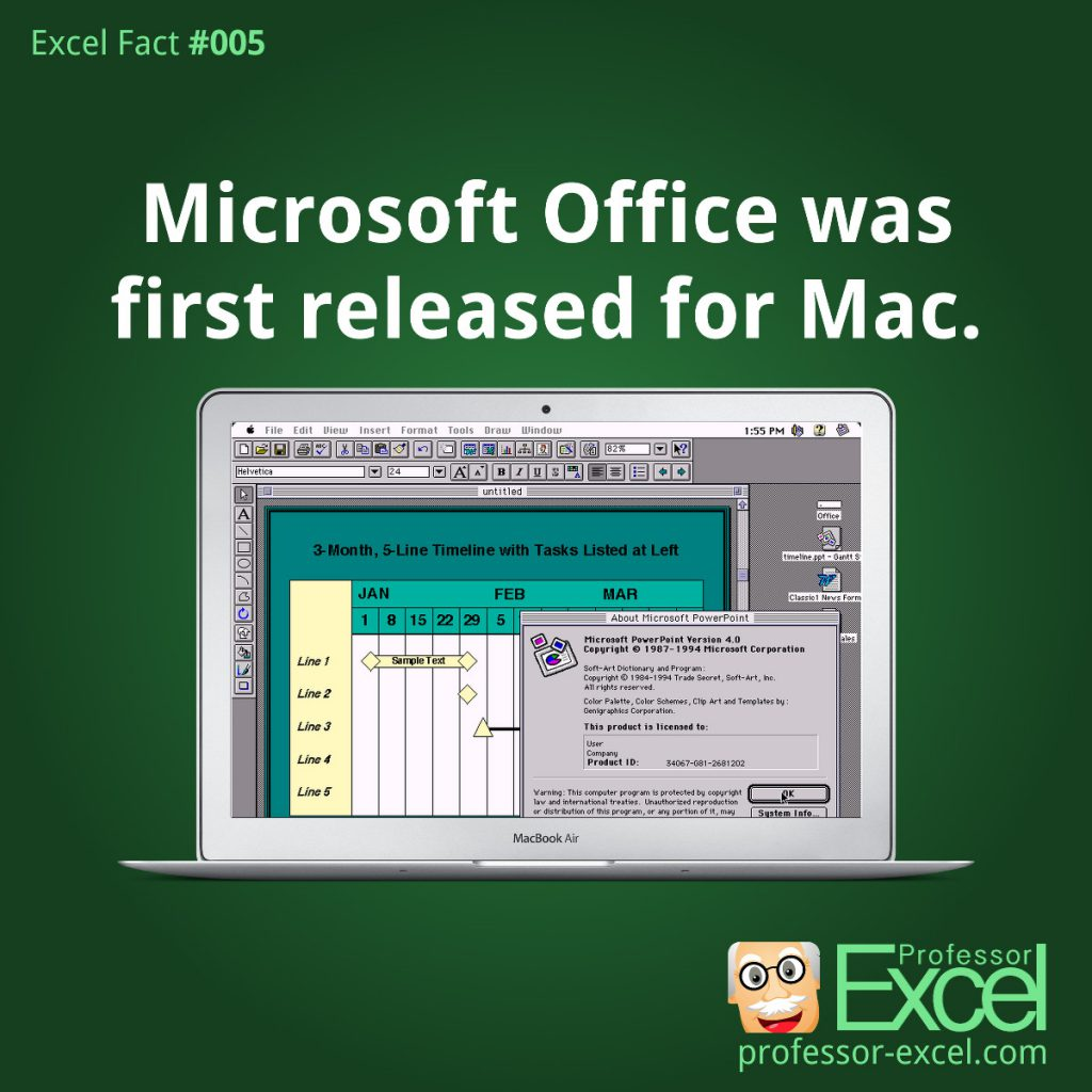 excel, fact, first, release, office, suite, mac