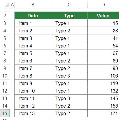 SUBTOTAL, data, Excel