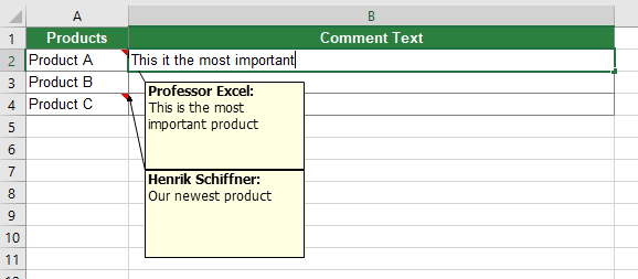 Method 1: Copy and paste or type the comment / note text manually.