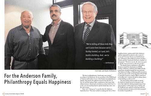 UNA Alumni Magazine - Spring 2017 - Anderson