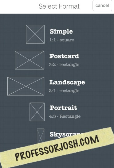 Frametastic Frame size options app of the week