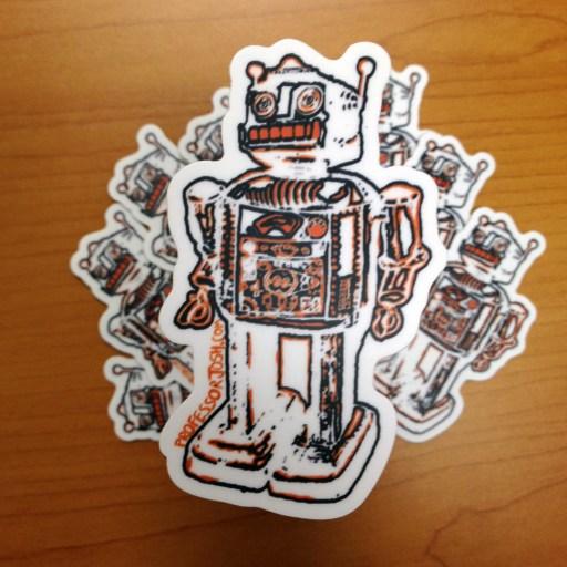 Robot Professor Josh Sticker